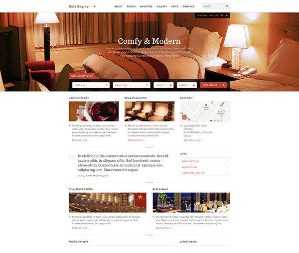 HotelEngine Comfy WP Theme