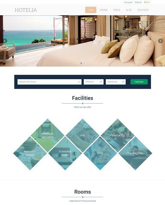 Hotelia - WordPress Hotel Theme