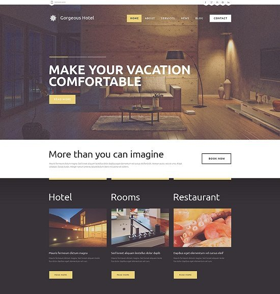 Hotels Responsive WordPress Thememonster