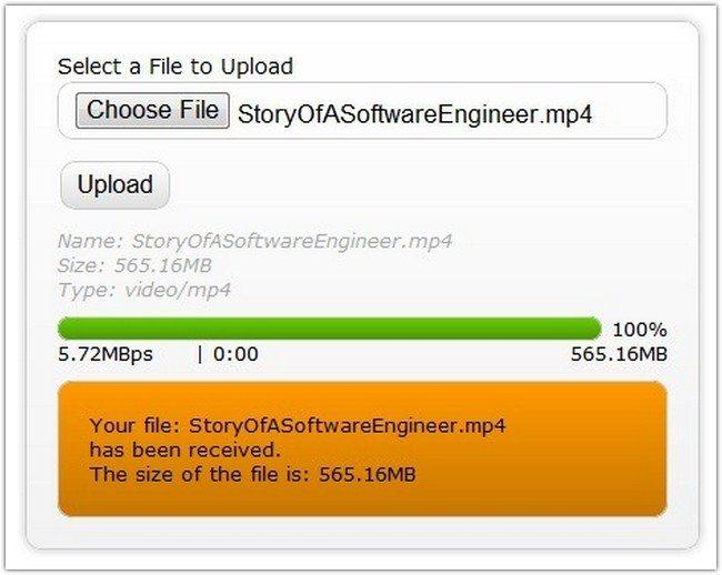 Html5 File Upload with Progress