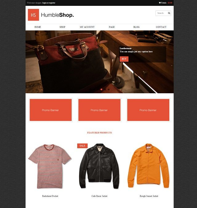 HumbleShop – Minimal WordPress Woocommerce Theme