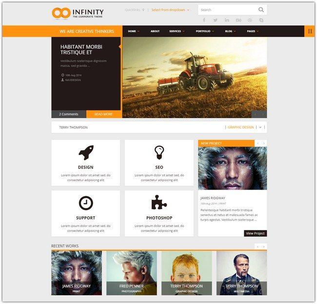 INFINITY Multipurpose WordPress Theme