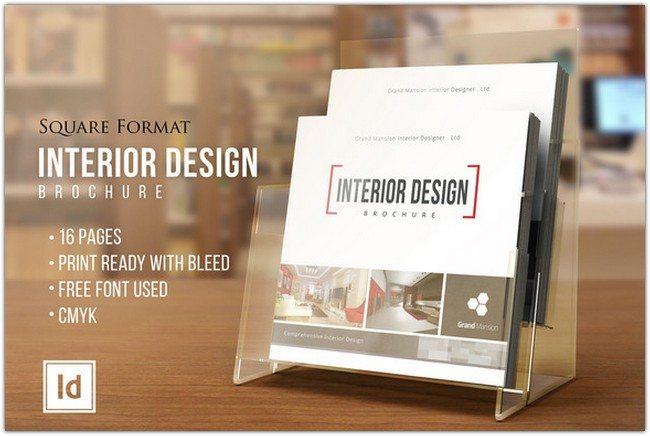 INTERIOR DESIGN • Square Brochure •