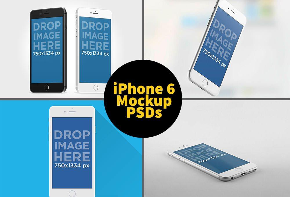 IPhone 6 Mockup PSDs