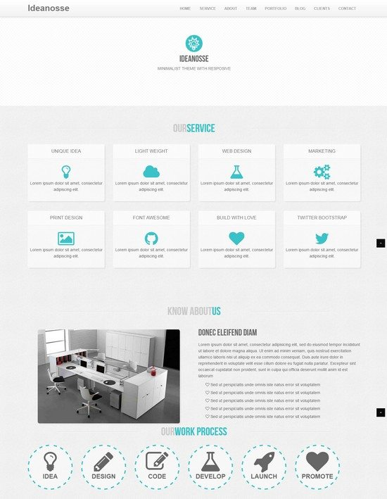 Ideanosse - Responsive One Page WordPress Theme