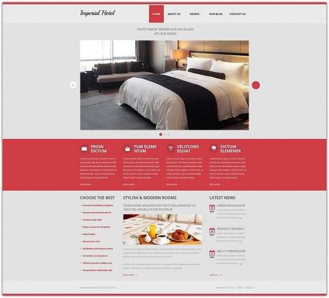 Imperial Hotel Drupal Template