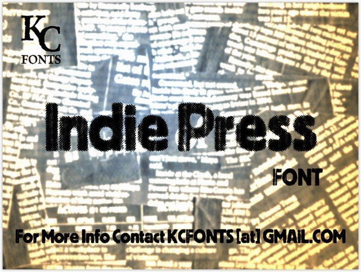 Indie Press font - by KC Fonts