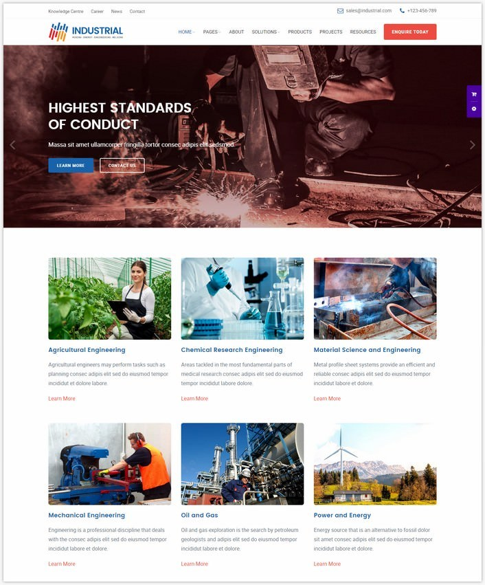 Industrial – Industry and Engineering Services Template