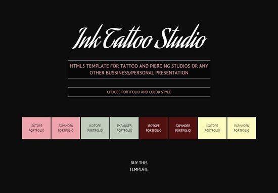 Ink Tattoo Studio Parallax HTML5 Template