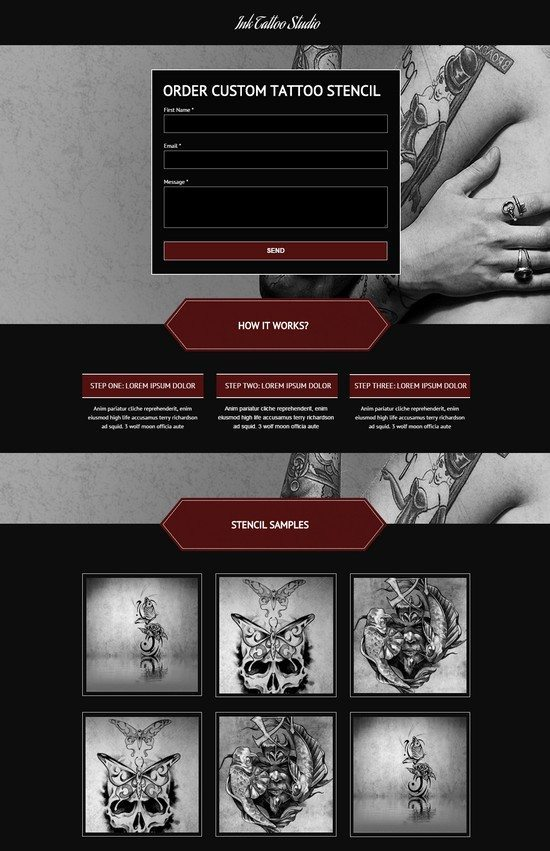 Ink Tattoo Studio - Unbounce Landing Page