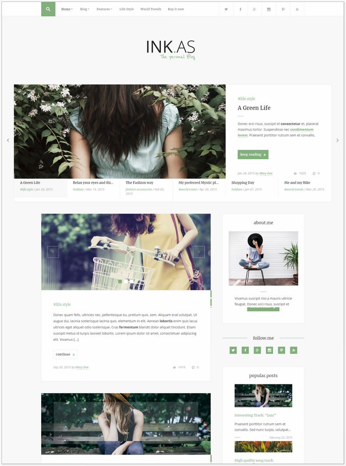 Inkas - WP PHP Theme