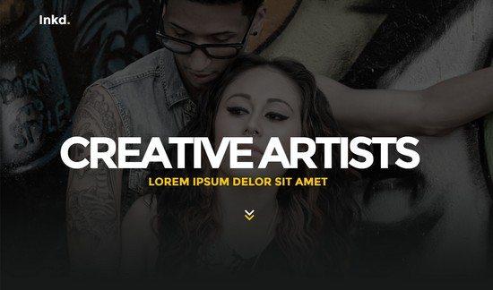Inkd. Tattoo Studio One-Page HTML