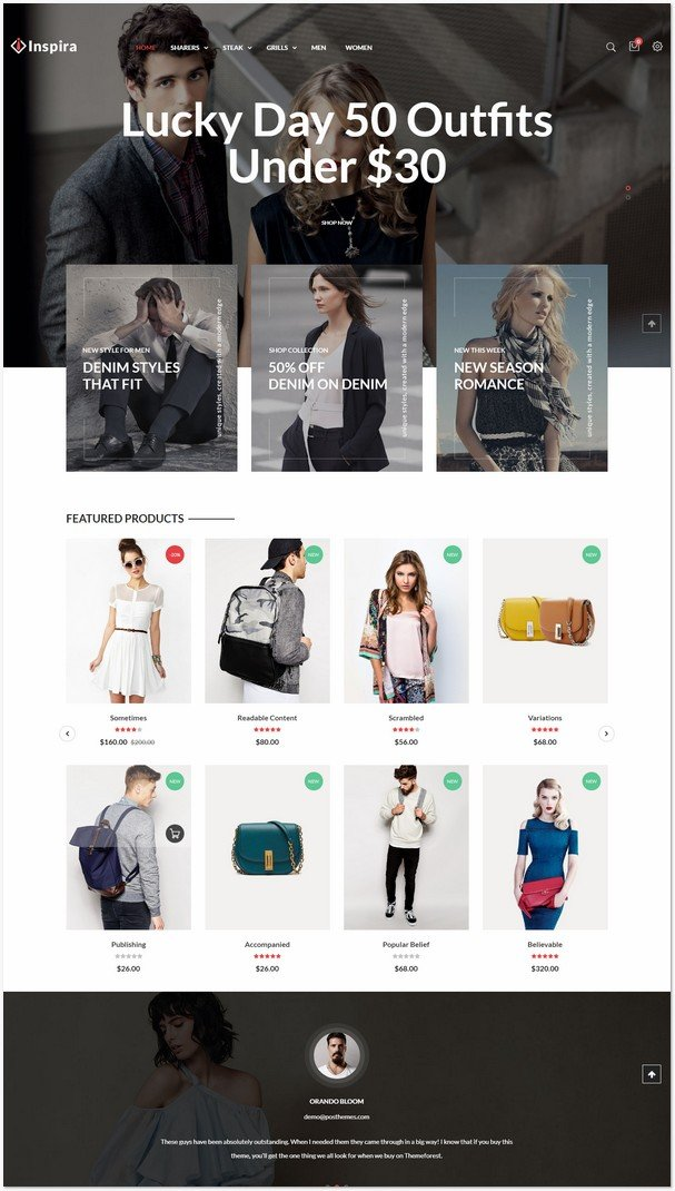 Inspira - Fashion Responsive Prestashop Theme