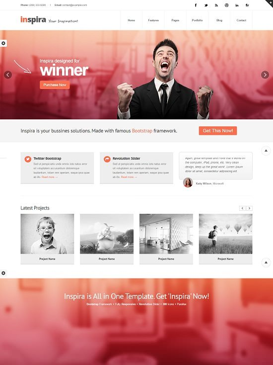 Inspira - Responsive HTML 5 Website Template