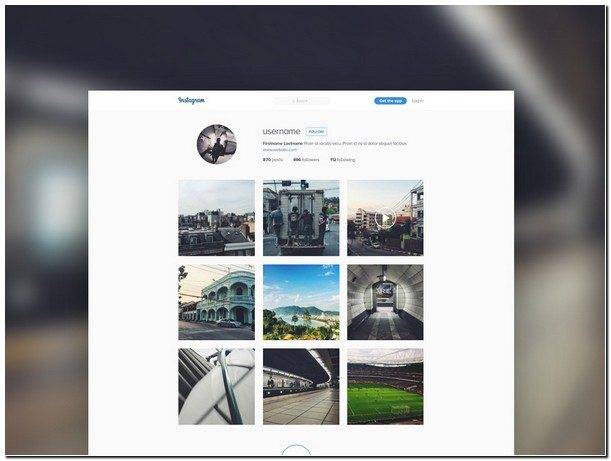 Instagram Template Mockup