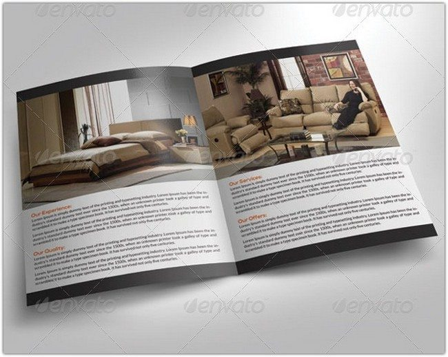 Interior Bifold Brochure Design