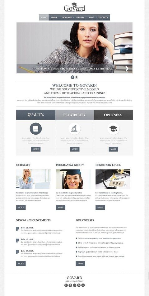 International University Joomla Template