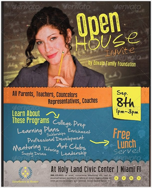 Invite Open House Flyer Template