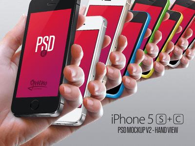Iphone 5S & 5C Mockup – Hand PSD