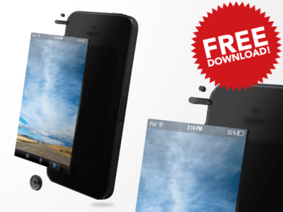 Iphone 5S Free PSD