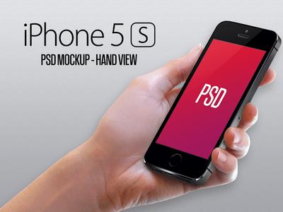 Iphone 5S Mockup – Hand PSD
