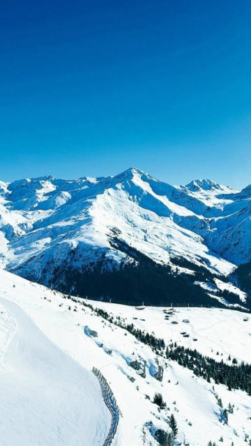 Iphone snow mountains winter white Wallpaper