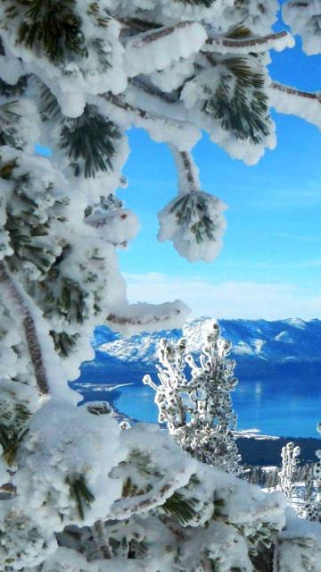 Iphone snow sky winter Wallpaper