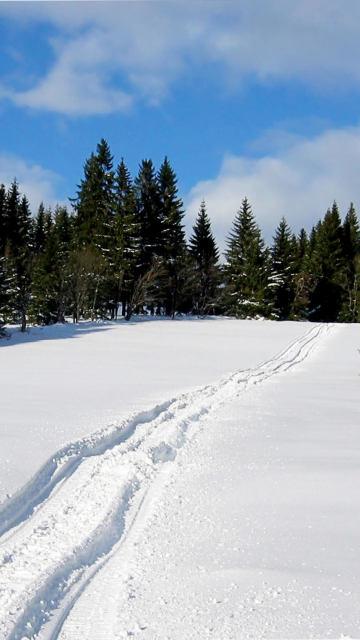 Iphone snow trail winter Wallpaper
