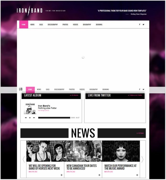 IronBand - Responsive Music Band & DJ template