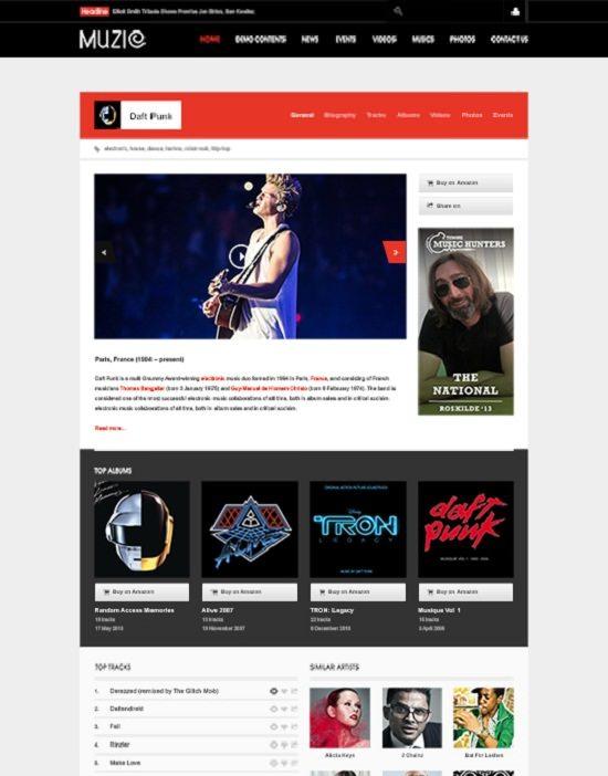 JA Muzic Responsive Joomla template