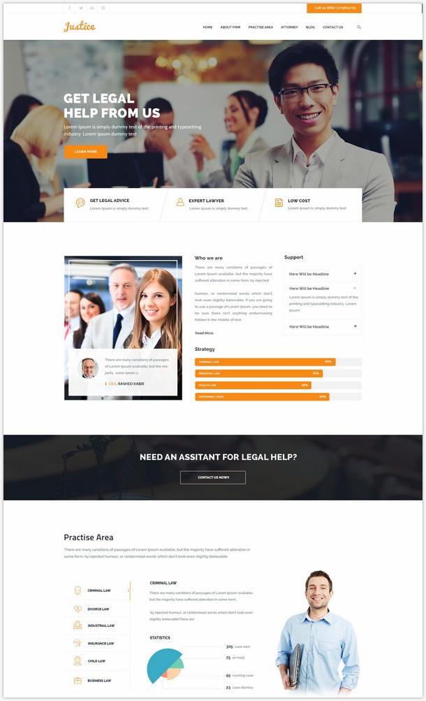 JUSTICE - Law & Business WordPress Theme