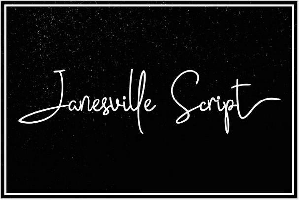 Janesville Script (50% Off)