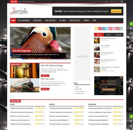 Jarida Responsive WordPress News, Magazine, Blog