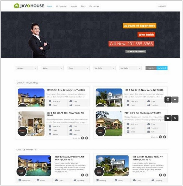 Javo House – Real Estate WordPress Theme