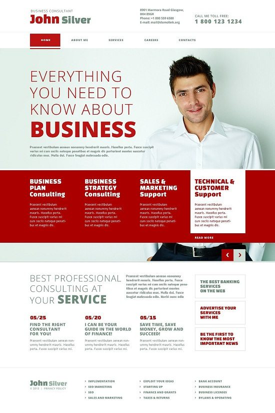John Silver Consulting Responsive Website Template
