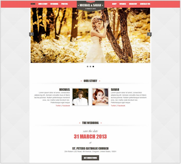 Kalyan One Page Responsive PHP Wedding Template