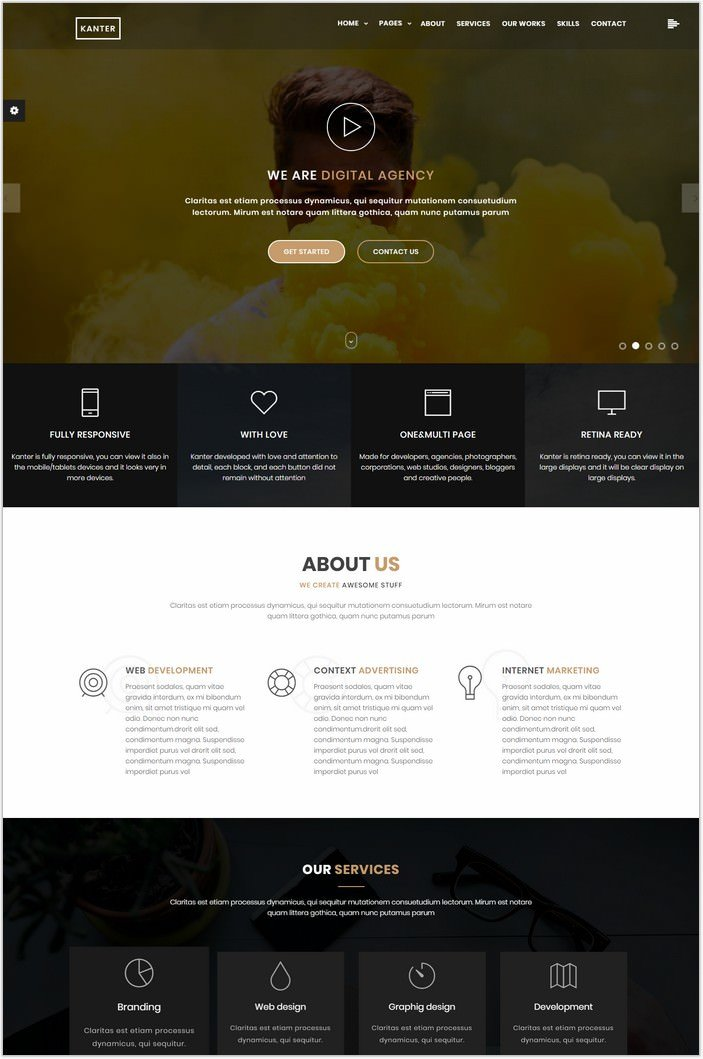 Kanter - Minimalistic Ajax Website Template