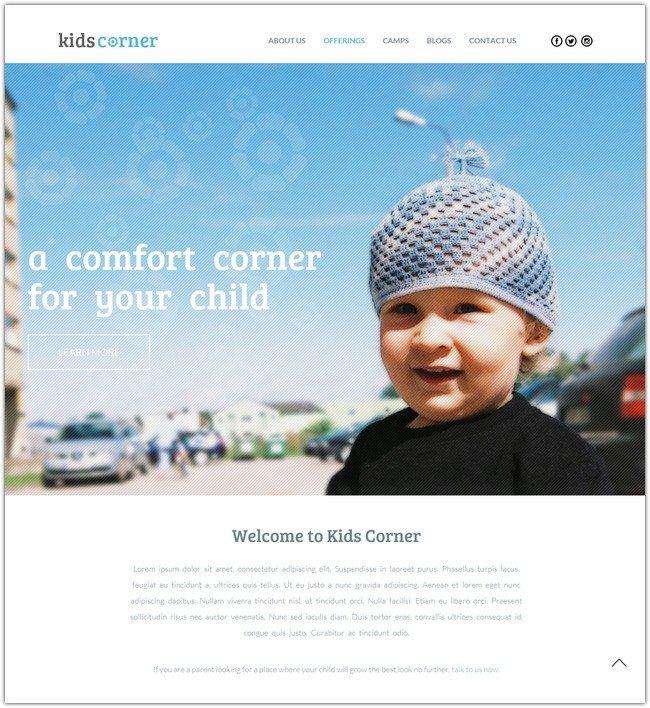 Kids Corner a Educational Multipurpose Flat Bootstrap Responsive web template