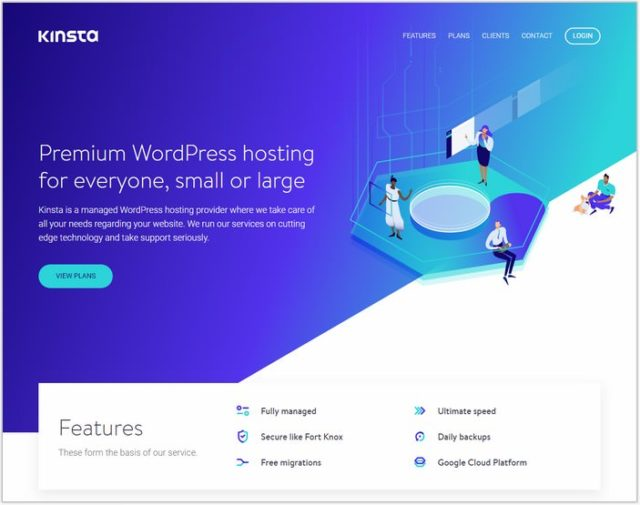 Kinsta - One Page inspiration