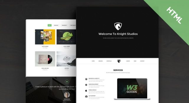 Knight – Free Bootstrap Theme