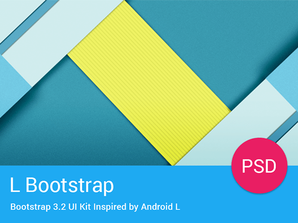 L Bootstrap Freebie – UI Kit Inspired by Android L