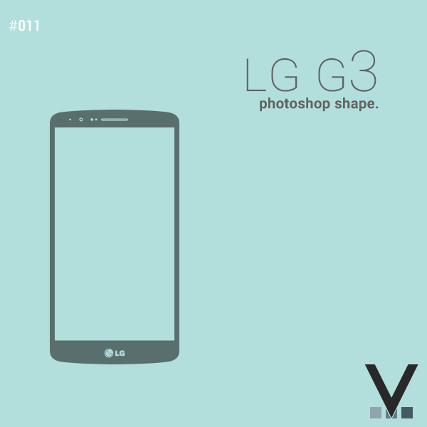 LG G3 Photoshop Shape