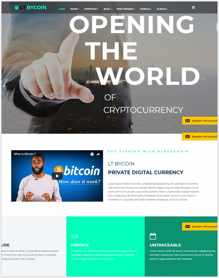 LT ByCoin – Cryptocurrency Website