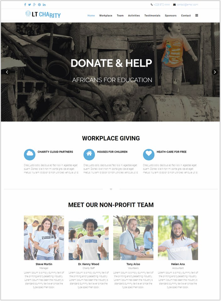 LT Charity Onepage