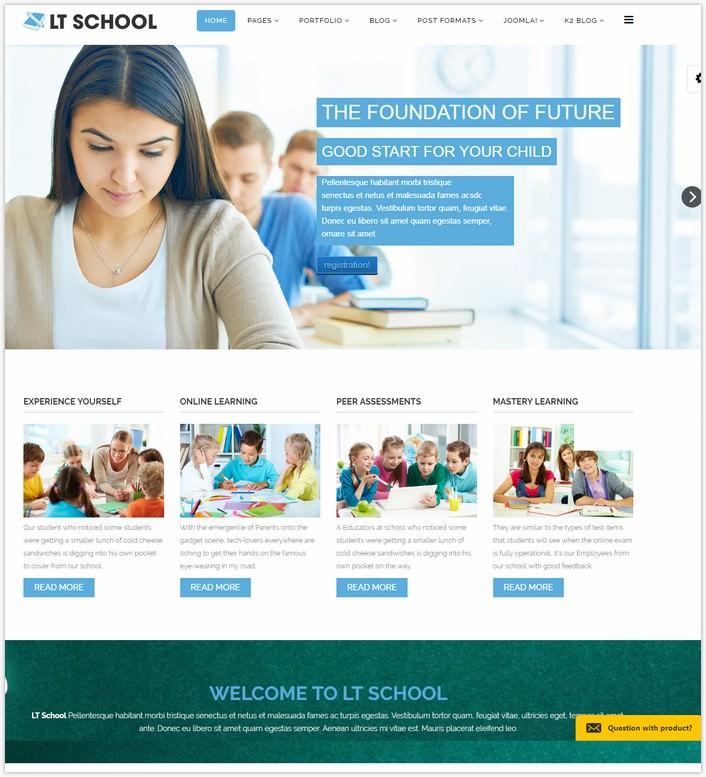 LT School - Free School Joomla Template