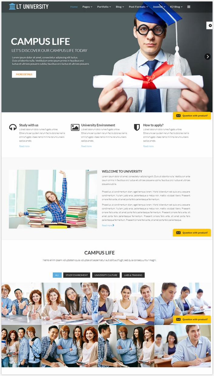 LT University - Free Joomla Template