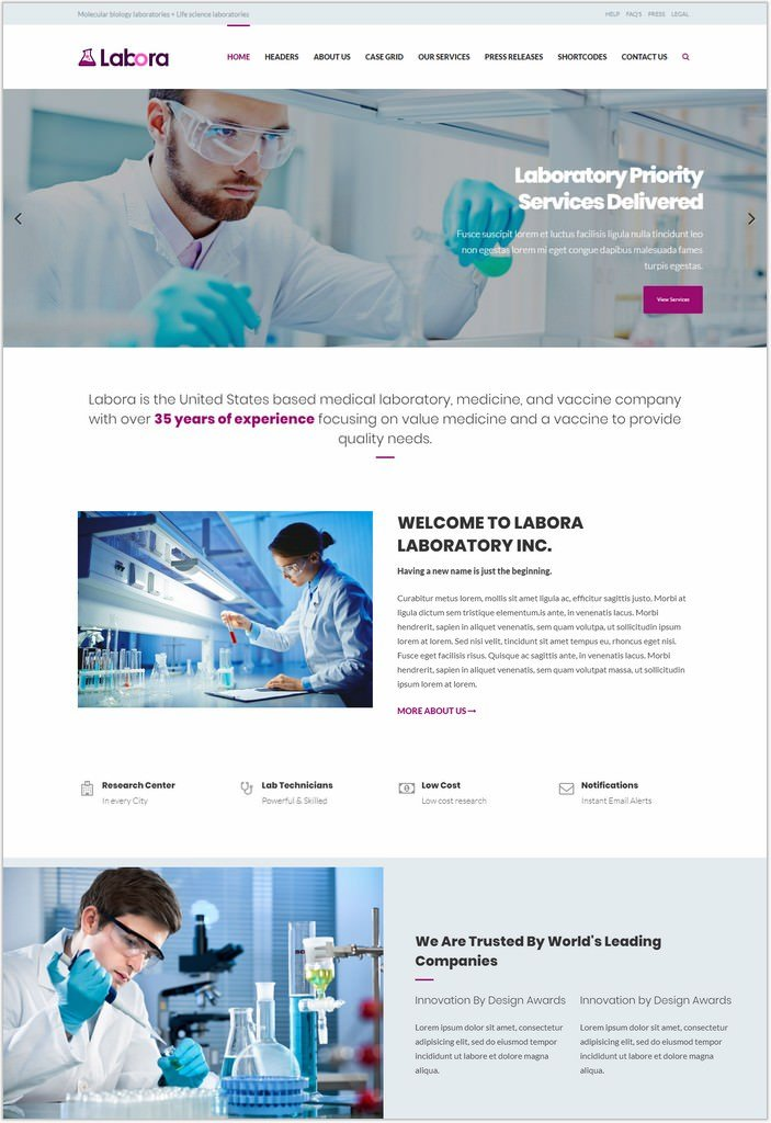 Labora -  Pharmaceutical HTML Template