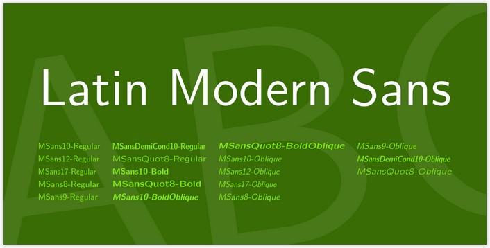 Latin Modern Sans Font Family