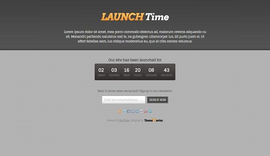 LaunchTime WordPress Theme