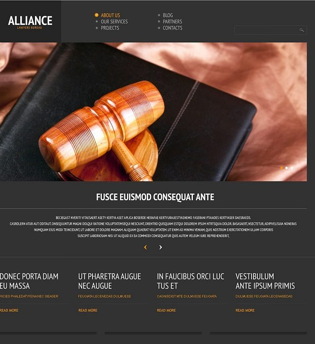 Law Firm Responsive WordPress Themes